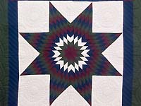 Bright Amish Extra Fine Lone Star Wall Hanging