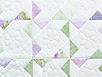 Lavender Green and Cream Pinwheel Crib Quilt