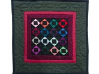 Miniature Amish Square with Square Quilt