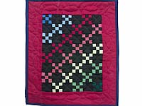 Miniature Amish Rainbow Nine Patch Quilt