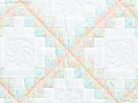 Soft Pink Aqua and Cream Irish Chain Crib Quilt