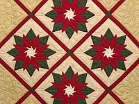 Extra Fine Poinsettia Wall Hanging