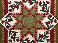 Red and Green Flowering Star Wall Hanging
