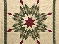 Burgundy Moss and Light Tan Lone Star Wall Hanging
