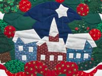 Silent Night Applique Wall Hanging