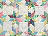 Green and Yellow Little Stars Crib Quilt