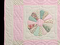 Pastel Pink Dresden Plates Crib Quilt