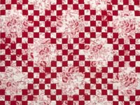 Crimson and Cream Irish Chain Crib Quilt