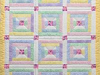 Pastel Rebecca Log Cabin Crib Quilt