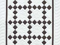 Brown and White Nine Patch Crib Quilt