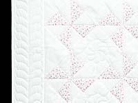 Delicate Floral Rose and Cream Pinwheel Crib Quilt