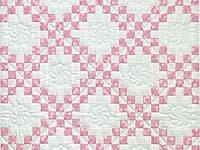 Pastel Pink and Cream Irish Chain Crib Quilt
