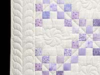 Pastel  Lavender Irish Chain Crib Quilt