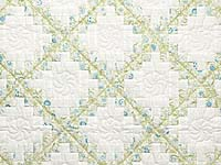 Willow Teal and Cream Irish Chain Crib Quilt