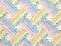 Pastel Weaver's Fever Crib Quilt