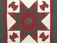 Christmas Bells Lone Star Wall Hanging