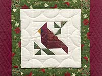 Mini Patchwork Cardinal Wall Hanging