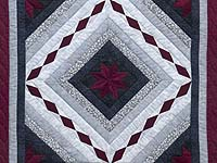 Burgundy Black and Gray Star Struck Wall Hanging