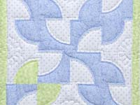 Pastel Blue and Green Solomon's Puzzle Crib Quilt