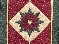 Green and Red Poinsettia Runner