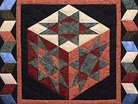 Batik Evening Star Cube Wall Hanging