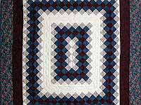 Blue and Burgundy Boston Commons Wall Hanging