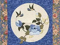 Blue Rose Garden Wall Hanging
