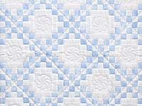 Pastel Blue and Cream Irish Chain Crib Quilt