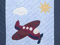 Alice Airplane Crib Quilt
