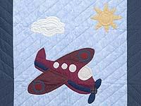 Alice Airplane Crib Quilt