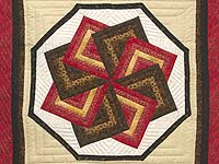 Red Brown and Gold Star Spin Wall Hanging