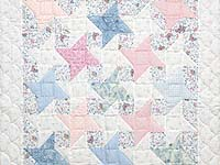 Pastel Friendship Star Crib Quilt
