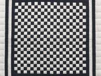 Black and Cream Checkerboard Wall Hanging