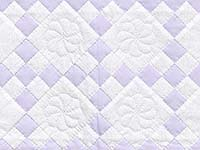 Lilac and Cream Nine Patch Crib Quilt
