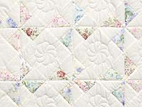 Floral Pastels and Cream Pinwheel Crib Quilt