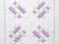 Purple and Pastel Green Susan's Crib Quilt