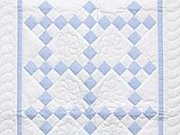 Blue and Cream Nine Patch Crib Quilt