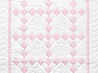 Pink and Cream Nine Patch Crib Quilt
