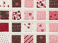 Pink and Chocolate Delight Crib Quilt