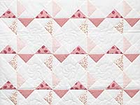 Pink Rose and Cream Pinwheel Crib Quilt