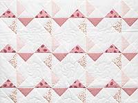 Pink Rose and Cream Pinwheel Crib Quilt