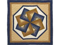 Navy and Gold Star Spin Wall Hanging