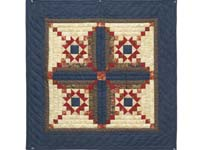 Blue and Coral Stars in the Cabin Wall Hanging