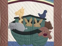 Plaid Noahs Ark Crib Quilt