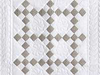 Cool Brown and White Nine Patch Crib Quilt