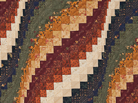 Navy, cheddar, burgundy, green  Bargello Wave Wall Hanging