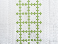 Spring Green and White Nine Patch Crib Quilt