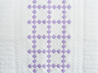 Soft Lavender and White Nine Patch Crib Quilt