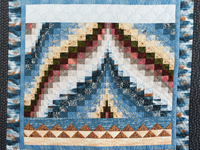 Ocean Blue and Sand Seascape Bargello Wall Hanging