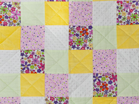 Baby Girl Flower Power Crib Quilt